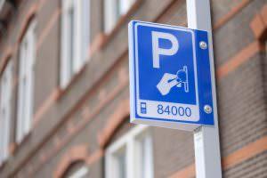 Foto bord parkeren betaald parkeerbord mobiel