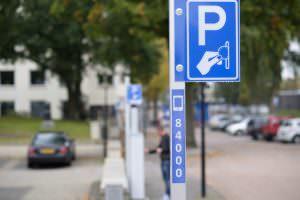 Foto parkeren bord betaald parkeerbord