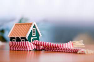 huis met sjaal