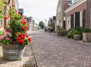 Straat in Heerenveen Noord