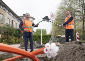 Eerste meters glasvezelnetwerk Heerenveen gelegd