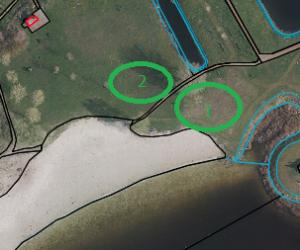 Plattegrond standplaatsen 1 en 2