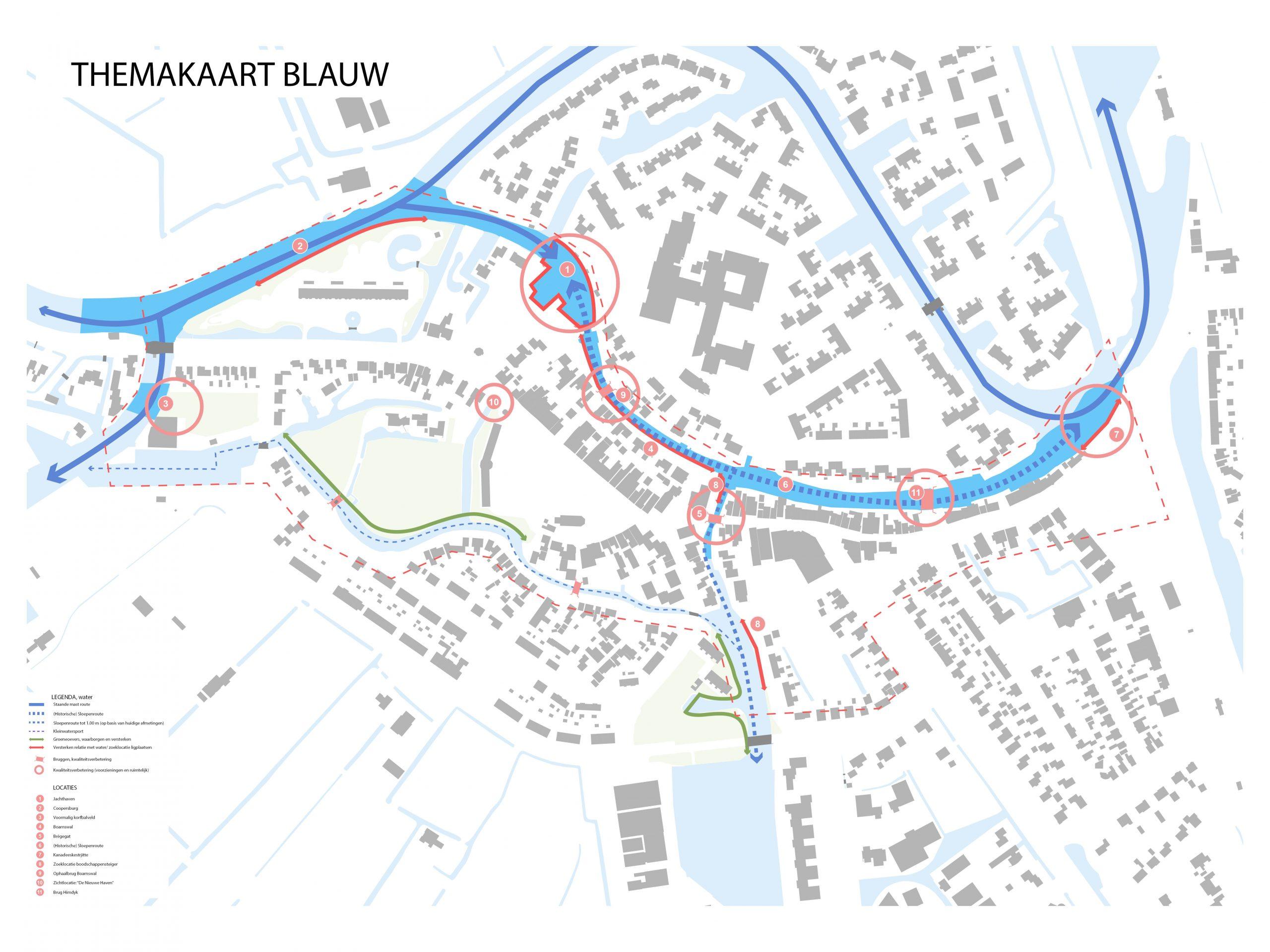 Kaart 4: Blauw (water)