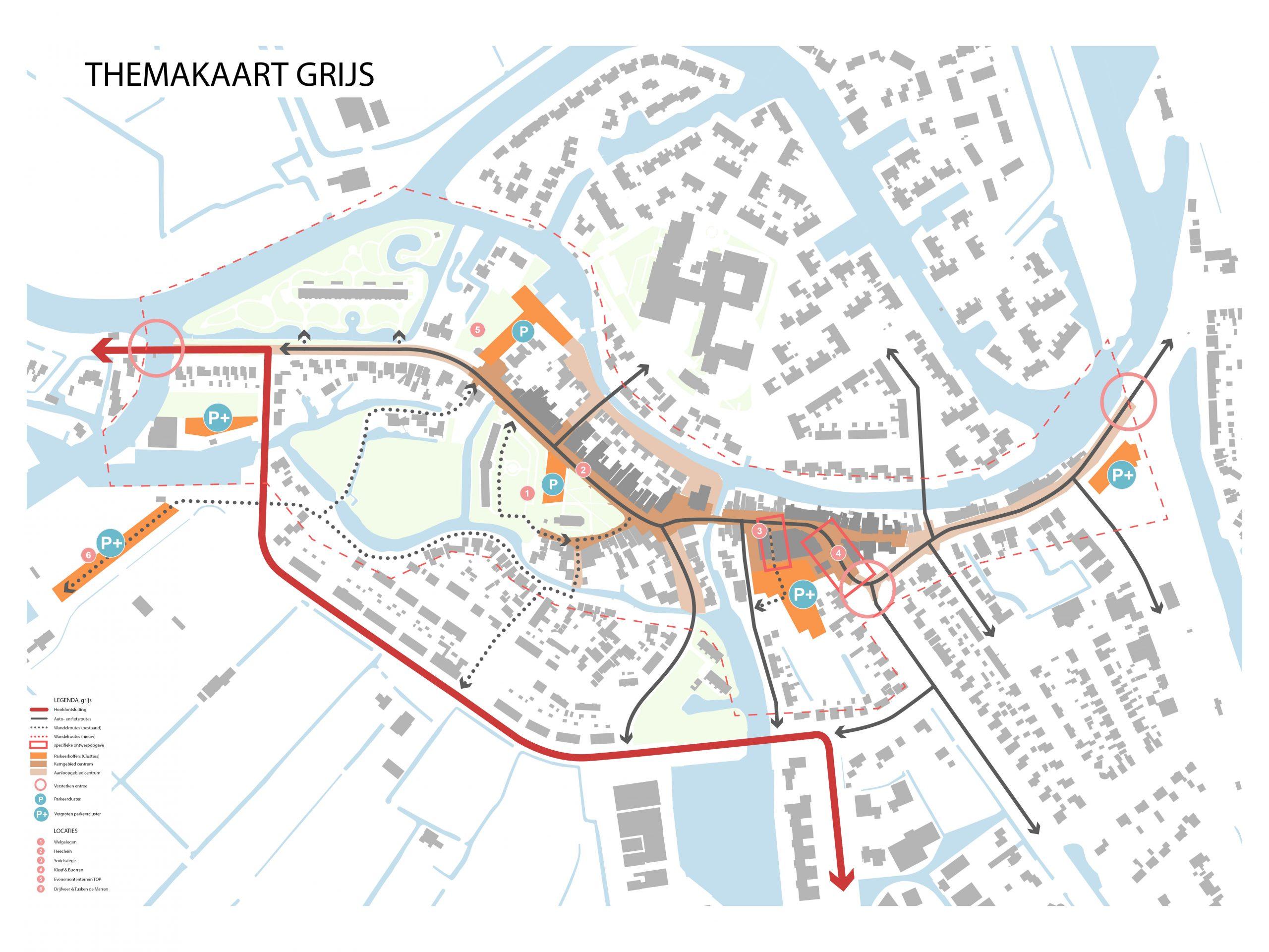 Kaart 2: Grijs (infrastructuur)